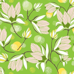 Magnolia Blossom - Floral Greenery