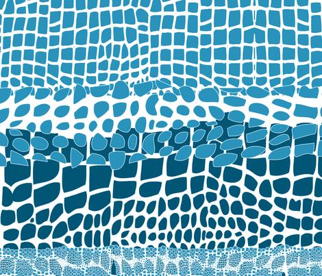 blue_ocean_mosaic fabric by isabella_asratyan on Spoonflower - custom fabric