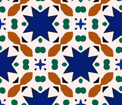 Mosaic pattern fabric by nadiia_nemchenko on Spoonflower - custom fabric