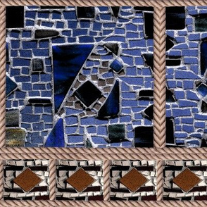 BLUE MOSAIC AND ROPE Brown ecru