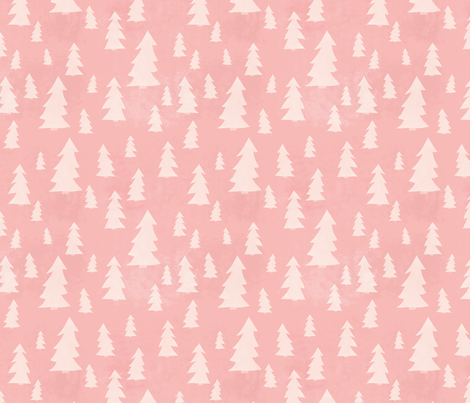 Pink and White Forest fabric by katievaz on Spoonflower - custom fabric