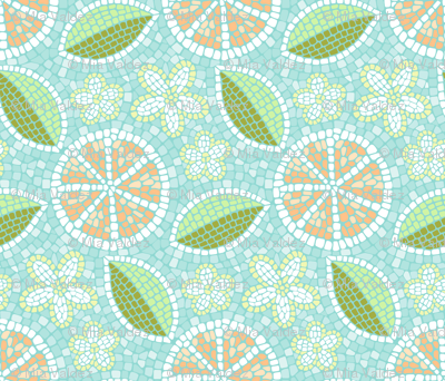 Summer Oranges Mosaic
