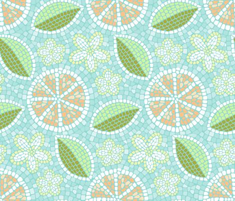 Summer Oranges Mosaic fabric by mia_valdez on Spoonflower - custom fabric