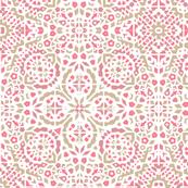 Raspberry pavlova mosaic
