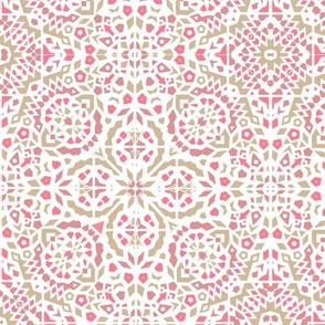 boho Raspberry pavlova mosaic