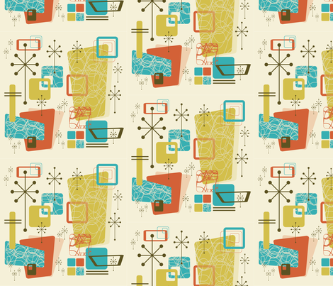 Retro A-Go-Go  fabric by cricketstudioinc on Spoonflower - custom fabric