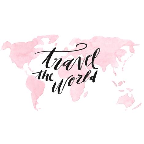 travel-w-globe-layout fabric by hudsondesigncompany on Spoonflower - custom fabric