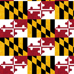 Floral Maryland Flag