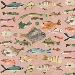 fish in dusky pink