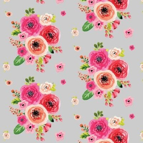 Floral Bunch on Grey