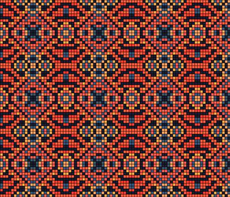 Mosaic_42x36 fabric by les_motifs_de_sarah on Spoonflower - custom fabric