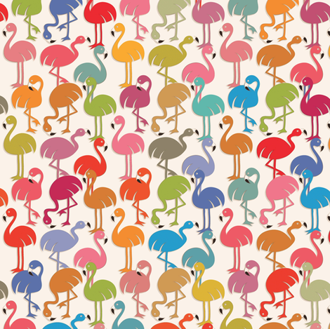 Flamingos  fabric by leventetladiscorde on Spoonflower - custom fabric