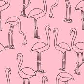 flamingo fabric // birds tropical summer pink  andrea lauren fabric