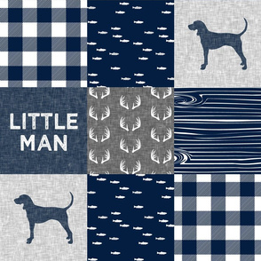 little man - navy and grey (coonhound)