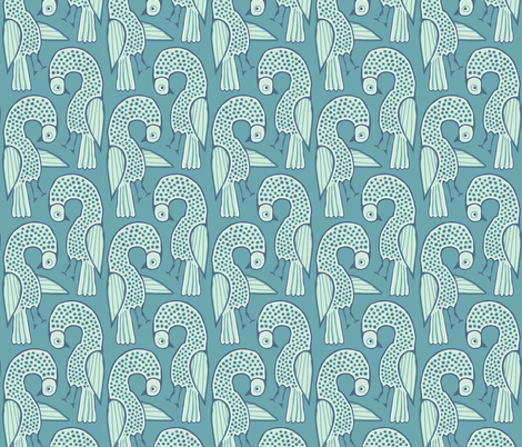 blu bird fabric by dearchickie on Spoonflower - custom fabric