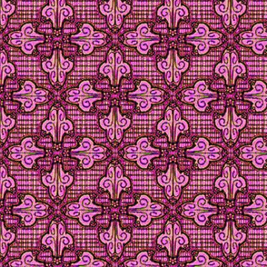 Flower Flourish Mosaic, Pink
