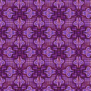 Flower Flourish Mozaic, Purple
