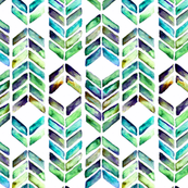 Chevron Mosaic - Sea Glass