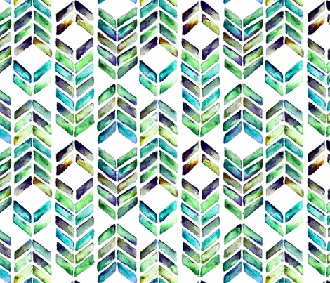 Chevron Mosaic - Sea Glass fabric by brittany_vogt on Spoonflower - custom fabric