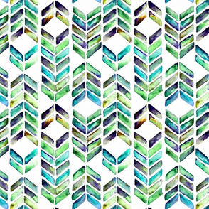 Chevron Mosaic - Sea Glass