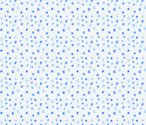 Watercolour Stars (Blue) fabric by geekatheartshop on Spoonflower - custom fabric