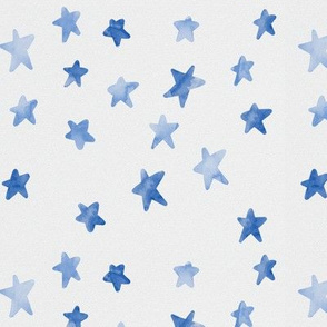 Watercolour Stars (Blue)
