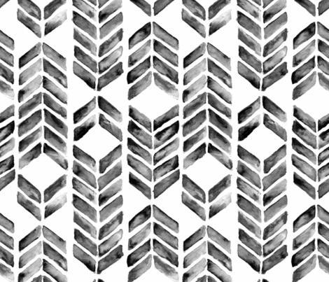 Mosaic_blackwhite fabric by brittany_vogt on Spoonflower - custom fabric