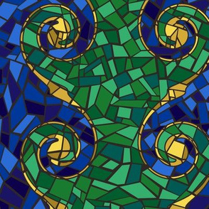Poolside Mosaic Spirals