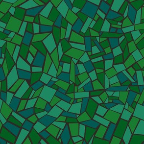 Mosaic Tile /Stained Glass Texture Green