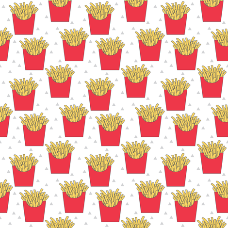 tiny french-fries-with-red-box fabric by lilcubby on Spoonflower - custom fabric