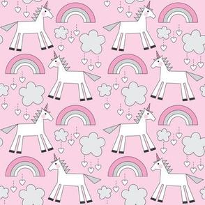 small unicorns-on-hot-pink