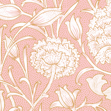 William Morris ~ Wild Tulip ~ Dauphine and Gilt   fabric by peacoquettedesigns on Spoonflower - custom fabric