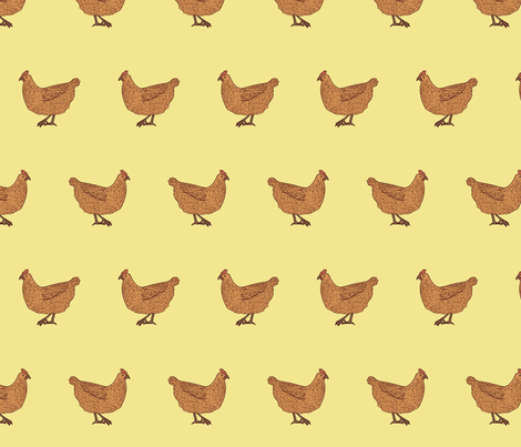 Chickens fabric by annas-roses on Spoonflower - custom fabric
