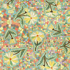 daisy colorburst mosaic