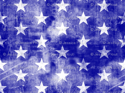 distressed stars on blue