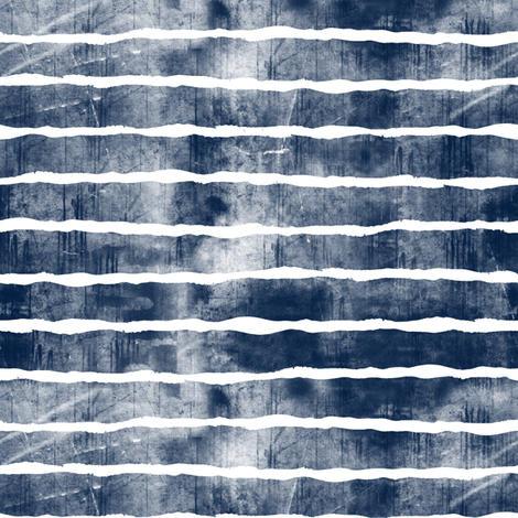 distressed navy stripes fabric by littlearrowdesign on Spoonflower - custom fabric