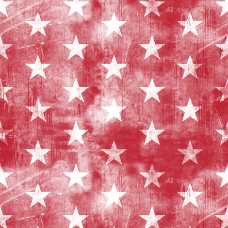 distressed stars on dark red fabric by littlearrowdesign on Spoonflower - custom fabric