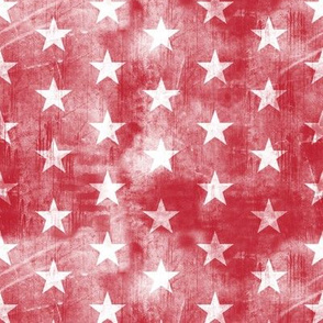 distressed stars on dark red