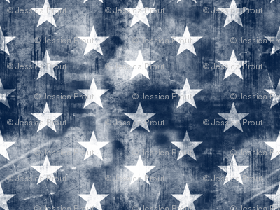 distressed stars on navy