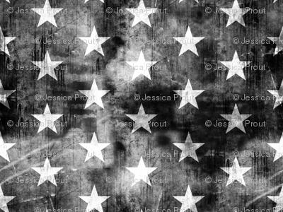 distressed stars on black