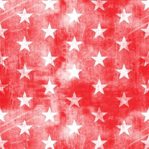 distressed stars on red