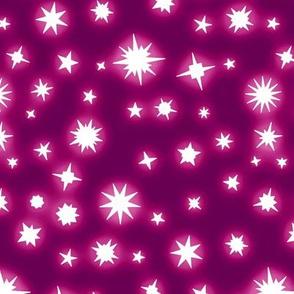 Glowing Pink Stars