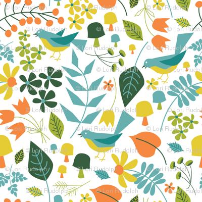 Springtime Floral ~ Bluebird