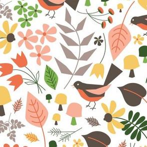Springtime Floral  ~ Woodsy