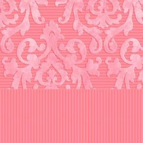 Pink-Coral Damask Shirt Front