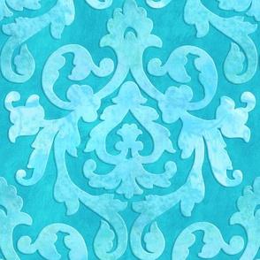 Aqua Damask Medium