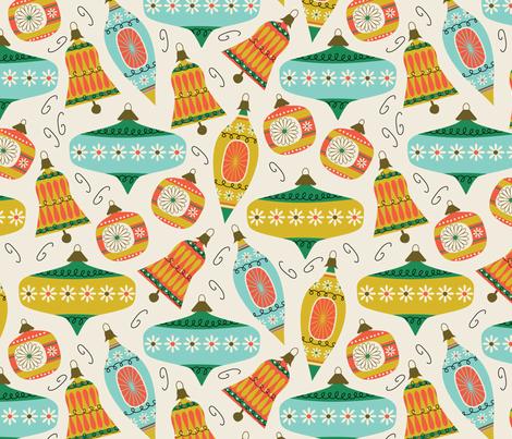 Vintage Ornaments - retro fabric by retrorudolphs on Spoonflower - custom fabric