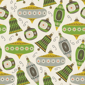 Vintage Ornaments - lemon and edamame