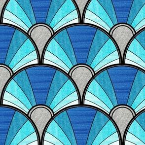 Ombre Blue Deco Fan