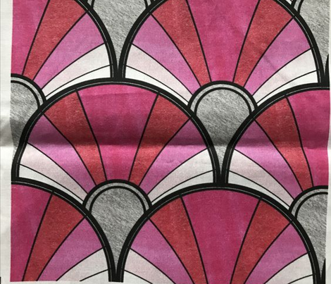 Art Deco Pattern in Pink Ombre